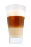 Latte macchiato. Isolated on white with clipping path Royalty Free Stock Photos