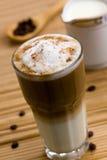 Latte Macchiato , A Close Up Shot Stock Image