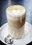 Latte macchiato. At a cafe Royalty Free Stock Photo