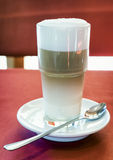 Latte macchiato. A latte macchiato at a cafe Stock Images