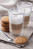 Latte macchiato cafee Royalty Free Stock Photos