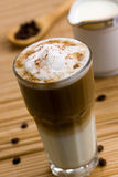 Latte Macchiato , a close up shot Stock Image