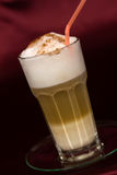 Latte Macchiato , a close up shot Royalty Free Stock Photo