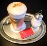 Latte macchiato. Coffee with dessert stock image
