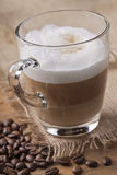 Latte macchiato coffee. Glass of Latte macchiato cafee Royalty Free Stock Photos