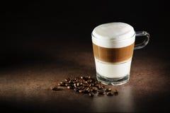 Latte macchiato coffee Stock Images