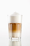 Latte macchiato. Coffee in a glass  on white Stock Photo