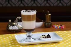 Latte Macchiato do café imagem de stock royalty free
