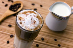 Latte Macchiato with frothy milk Stock Photography