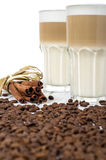 Latte macchiato in a glass Stock Image