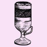 Latte macchiato in glass cup Stock Photography