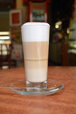 Latte Macchiato In Glass Cup Royalty Free Stock Photos