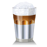 Latte macchiato glass Royalty Free Stock Images