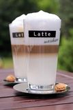 Latte Macchiato glasses Royalty Free Stock Photography