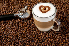 Latte Macchiato with heart Royalty Free Stock Photography