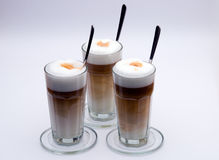 Latte Macchiato with spoon Stock Photography
