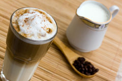 Latte Macchiato With Frothy Milk Stock Image