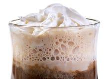 Latte no branco imagem de stock