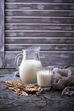 Latte non caseario dell'avena del vegano Fotografie Stock Libere da Diritti