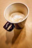 Latte non finito del caffè Fotografia Stock Libera da Diritti