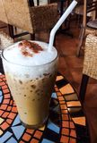 Latte- oder Cappuccinokaffee Lizenzfreie Stockfotografie