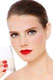 Latte ottenuto fotografia stock