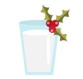 Latte per l'icona di vettore di Santa Isolato su priorità bassa bianca Immagini Stock Libere da Diritti