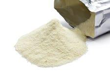 Latte in polvere Immagine Stock