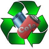 Latte riciclate del metallo Fotografia Stock