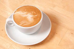 Latte and saucer Royalty Free Stock Photography