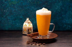 Latte smoothies with spices Royalty Free Stock Image