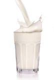 Latte splashy Fotografia Stock
