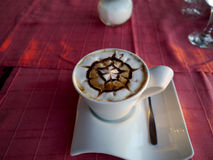 Latte sztuka Fotografia Royalty Free