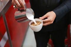 Latte sztuki kawa Zdjęcia Stock