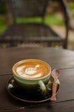 Latte sztuki kawa Obrazy Royalty Free