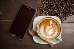 Latte sztuki kawa Obrazy Stock