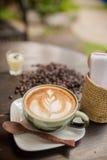 Latte sztuki kawa Zdjęcie Stock