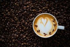 Latte sztuki kawa Zdjęcie Royalty Free