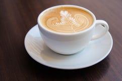 Latte sztuki kawa Zdjęcia Royalty Free
