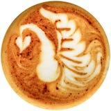Latte sztuki kawa odizolowywająca w białym tle Obraz Royalty Free