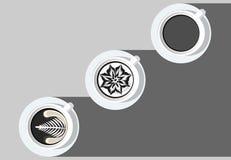 Latte sztuki kawowej białej filiżanki ilustratora czarny i biały wektorowy Ep 1 Zdjęcie Stock