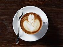 Latte sztuki serce Fotografia Stock