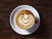 Latte sztuki serce Zdjęcie Royalty Free