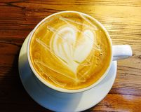 Latte. To lose yourself in its soft Royalty Free Stock Image