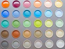 Latte variopinte della vernice Fotografie Stock Libere da Diritti