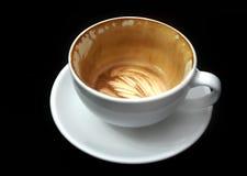 Latte vuoto della tazza di caffè Fotografie Stock