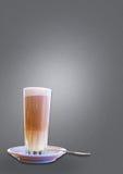 Latte w wysokim szkle Zdjęcia Stock