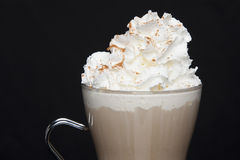 Latte with Whipped Cream Royalty Free Stock Photo