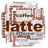 Latte word cloud. Creative illustration of idea word lettering typography . 3D rendering Royalty Free Stock Images