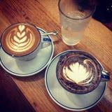Latteart. Stock Foto's